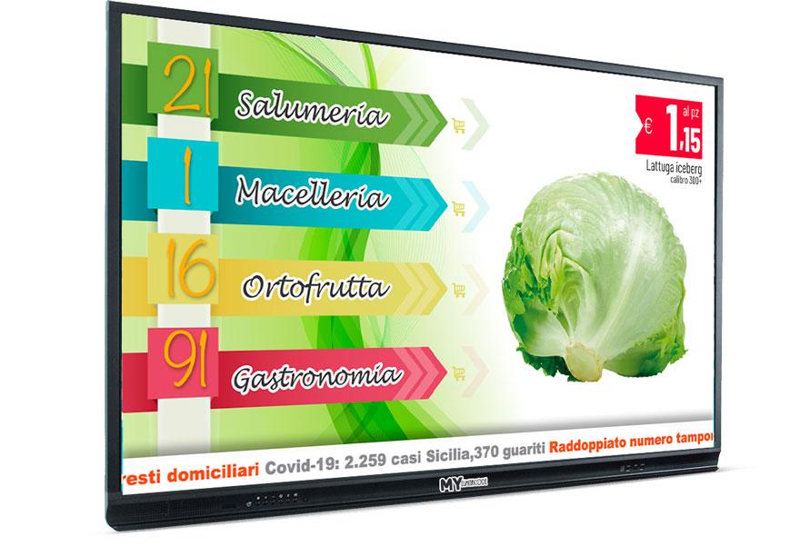 frutta e verdura monitor turno